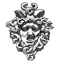 medusa head vintage vector image