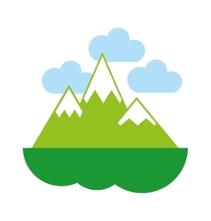 mountain silhouette isolated icon vector image