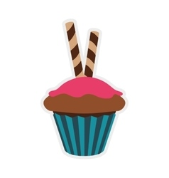 Muffin cupcake icon Bakery design graphic vector image