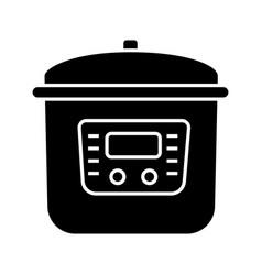 Multi cooker glyph icon vector