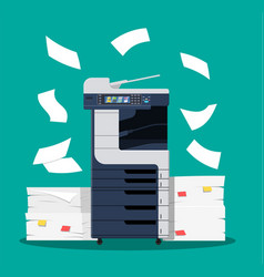 Office multifunction printer scanner vector