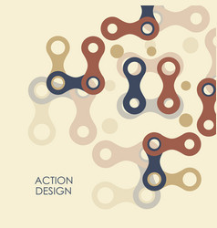 Pattern with abstract figures vector
