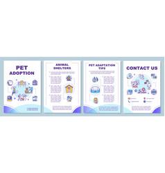 pet adoption brochure template vector image