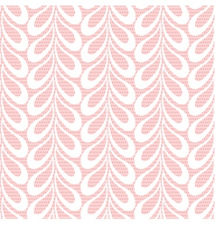 Pink lacy leaves background vector image