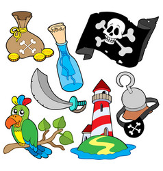 pirate collection 6 vector image