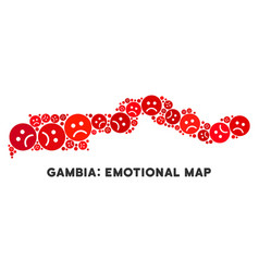 Pitiful the gambia map composition of sad vector