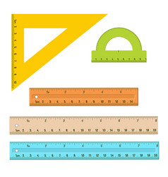 plastic measuring rulers set vector image