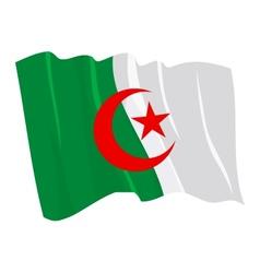 Political waving flag of algeria vector