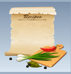 Recipes icon vector