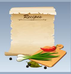 Recipes icon vector image
