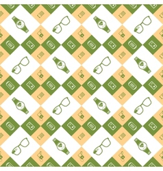 seamless pattern smart devices vector image