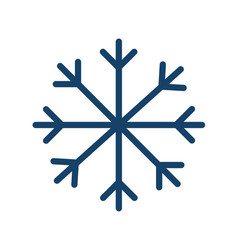 simple icon frost cold weather with snowflake vector image