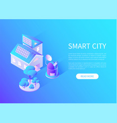smart city transport and building with batteries vector image