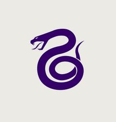 snake logo icon symbol vector image
