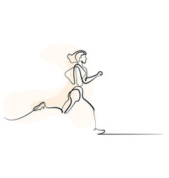 sport running woman on white background vector image