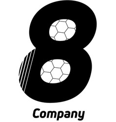 Sports logo number eight vector