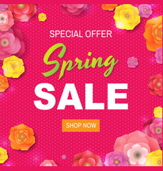 spring sale poster with text vector image