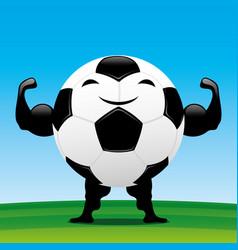Strong soccer ball vector