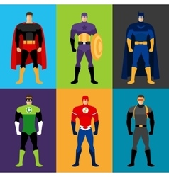 Superhero costumes vector image