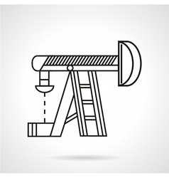 Thin line oil derrick icon vector image
