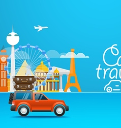Travel Vacation design template Car travel vector
