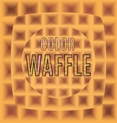 Waffles one after another with the text color logo vector