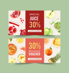 World food day voucher design with pomegranate vector