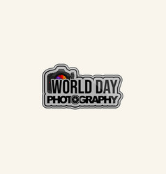 world photography day vector image