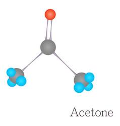 acetone 3d molecule chemical science vector image