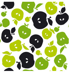 apple fruit seamless pattern for fabric background vector image