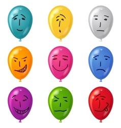 Balloon set smilies vector image vector image
