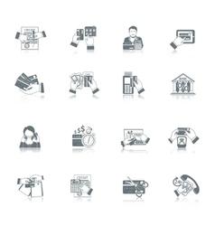 Credit Life Icon Set vector image vector image