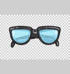 fashionable black eyeglasses frame vector image vector image