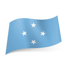 flag of federated states of micronesia four white vector image