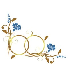Ring with floral decor vector image