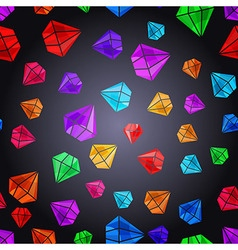 Seamless pattern with colorful gems vector image
