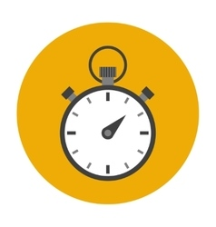 Stopwatch flat icon vector image