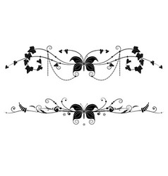 vignettes with butterfly vector image vector image