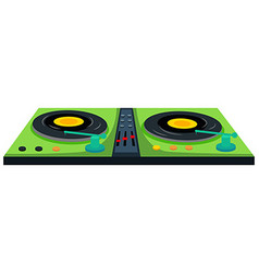 Disc jockey machine with sound control vector image vector image