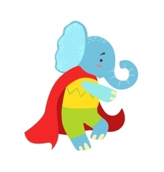 Elephant Animal Dressed As Superhero With A Cape vector image