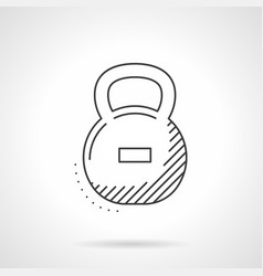 kettle bell flat line icon vector image