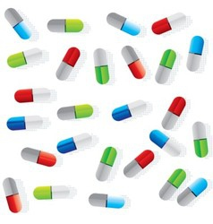 pills vector image