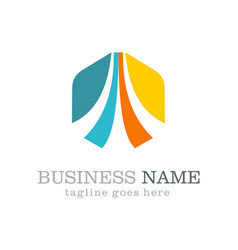 business vision polygon logo vector image vector image