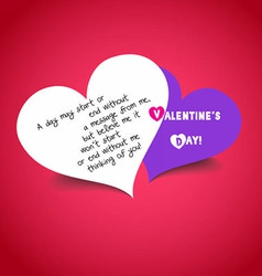 Happy valentine day with a pair heart vector image