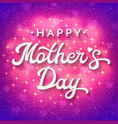 mothers day card with blurred hearts and sparkles vector image vector image