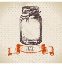 Rustic mason and canning jar vector image vector image