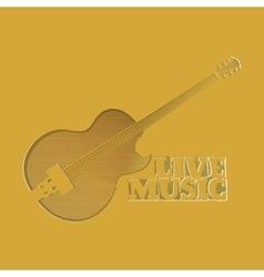 slot as guitars vector image vector image