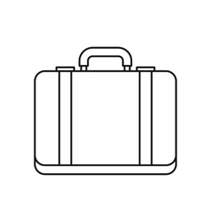 Suitcase icon in outline style vector image
