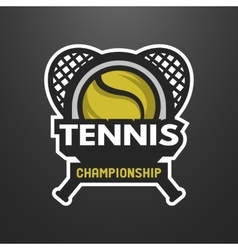 Tennis sports logo label emblem vector image vector image