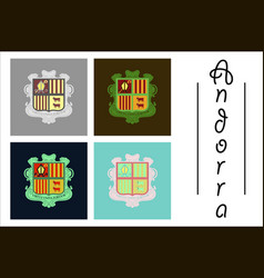 assembly of flat icons on theme coat of arms vector image